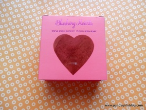 blushing hearts - peachy keen heart - i heart makeup