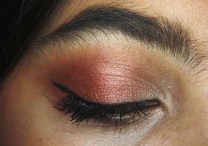 edgy burgundi christmas makeup