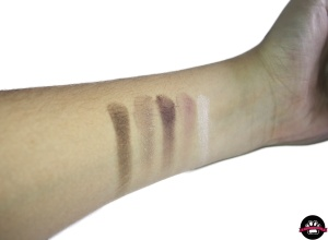 avon luxe sombras glamourous roses  swatches