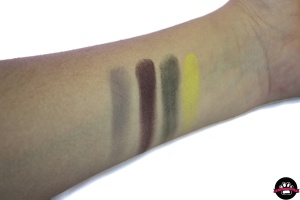 swatches ben nye sombras eyeshadow