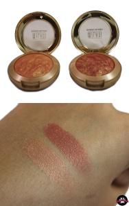 glow: milani baked blushes